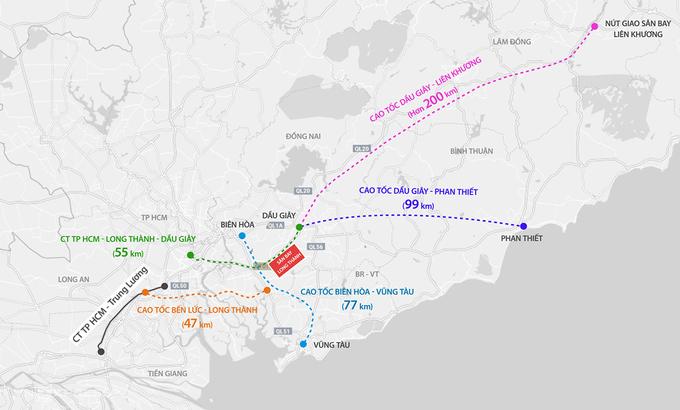 5 tuyến cao tốc kết nối sân bay Long Thành